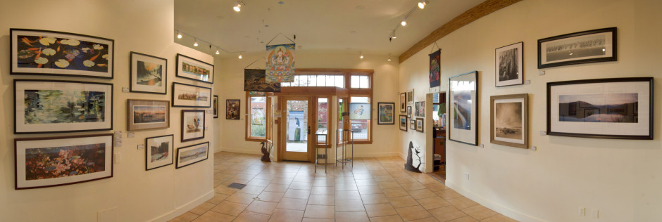 The 2010 Gratitude Show in the Open Door Gallery space, now occupied by Salon Bella