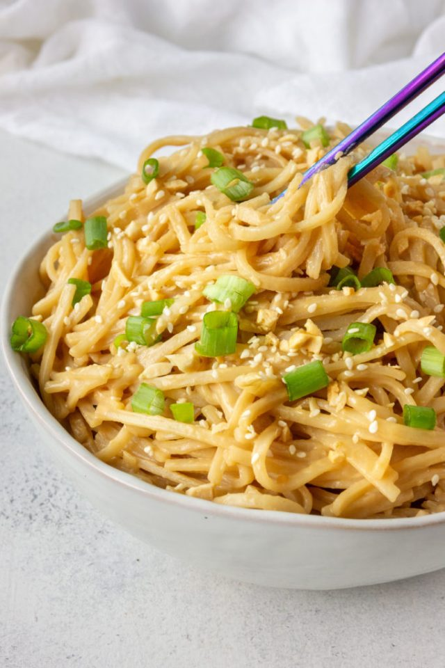 Easy peanut noodles in just 10 minutes!