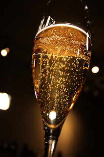 Bubbly champagne by Andrea Parrish-Geyer (2009) Creatives Commons (CC BY-ND 2.0) @ FlickR