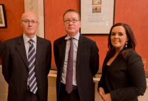 0409: Olivier Deparis, John Larkin Q.C. (Attorney General in Northern Ireland), Fionnuala Connolly.