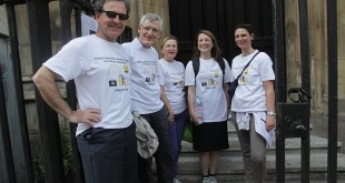 Left to right: Robert Stevenson, Christopher Devereux, Sally Osborn, Catherine Palmer, Bénédicte Viort (London Legal Walk 2014)