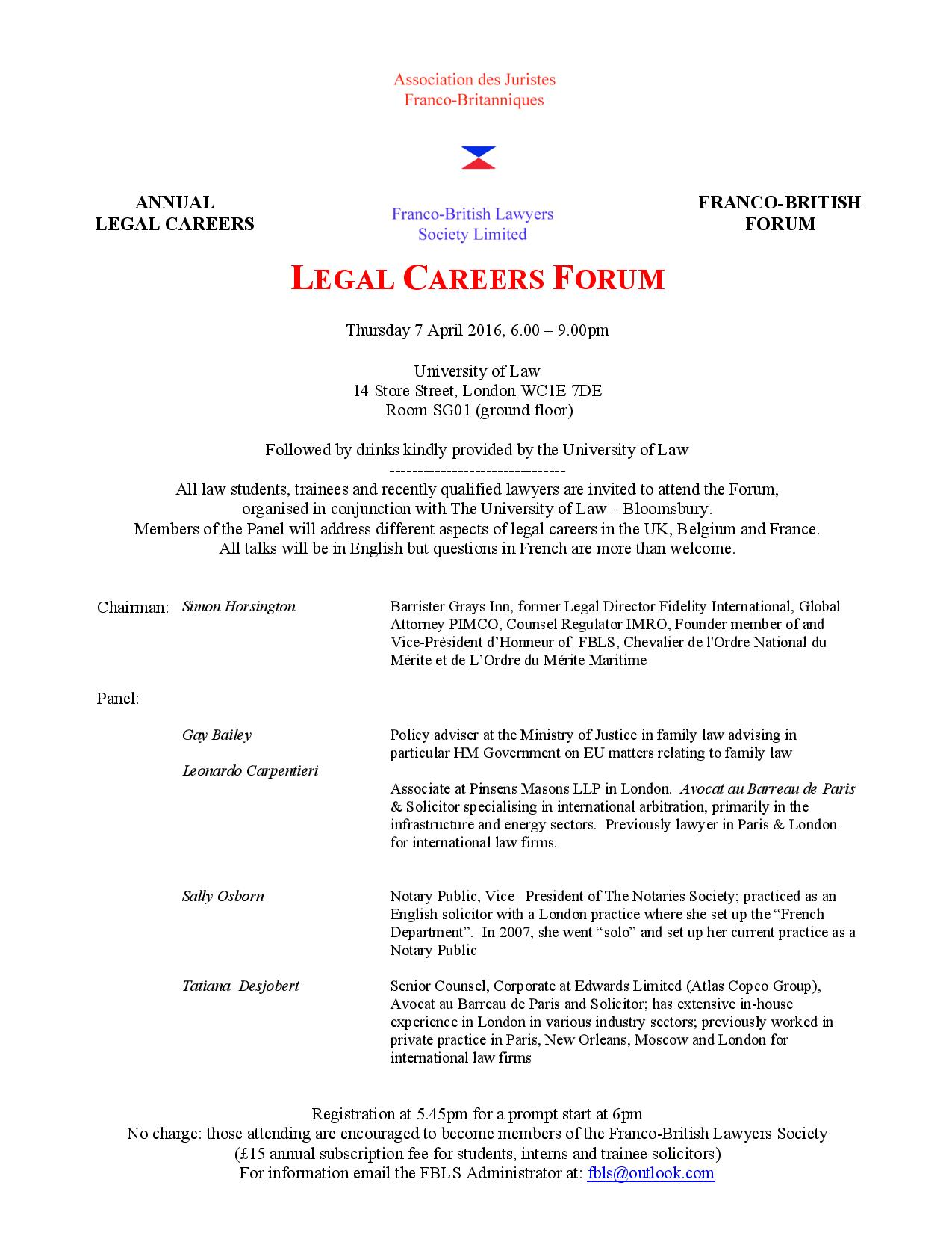 Final Careers FLyer FBLS UNiversity of Law 2016-page-001
