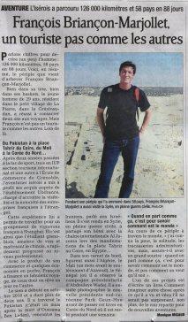 Dauphiné Libéré, 05/2013