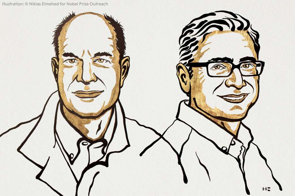 Mice were key to the breakthroughs of the 2021 Nobel Prize in Physiology or Medicine laureates, University of California at San Francisco professor David Julius and Scripps Research molecular biologist Ardem Patapoutian. (Image credit:  Ill. Niklas Elmehed © Nobel Prize Outreach)