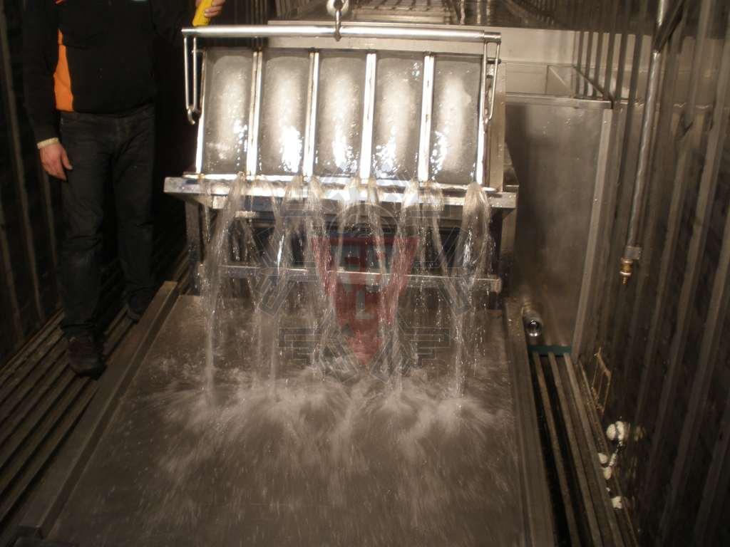 Viragem cubas blocos gelo