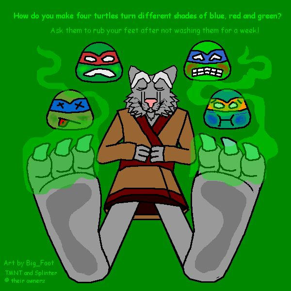 Feet Splinter Master Tmnt