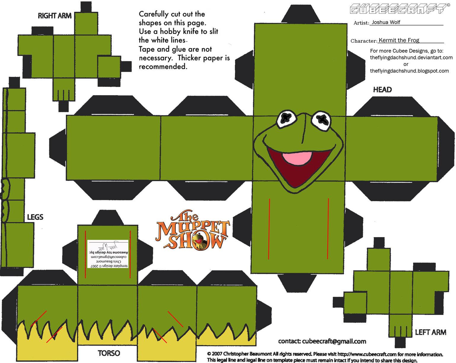 Muppets 1 Kermit Cubee By Theflyingdachshund On Deviantart