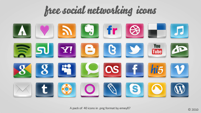 Download free social icon set