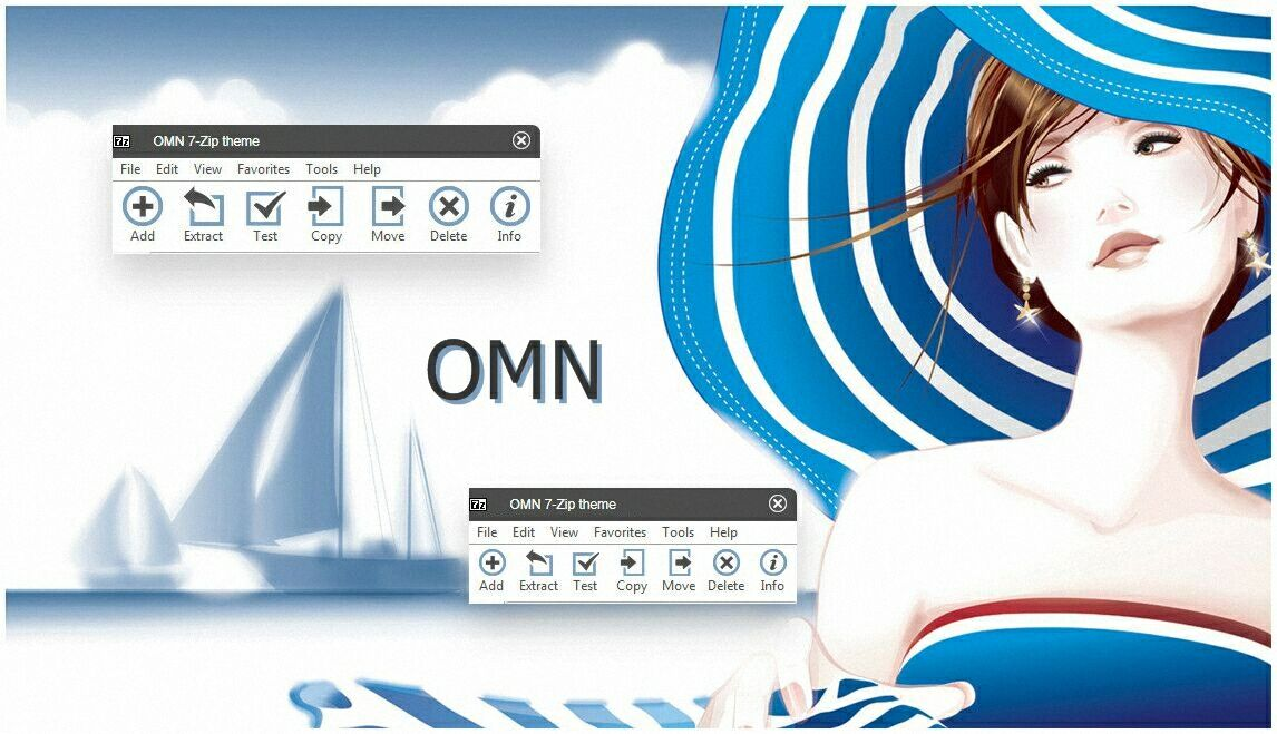 Omn Theme For 7zip Skinpack Customize Your Digital World