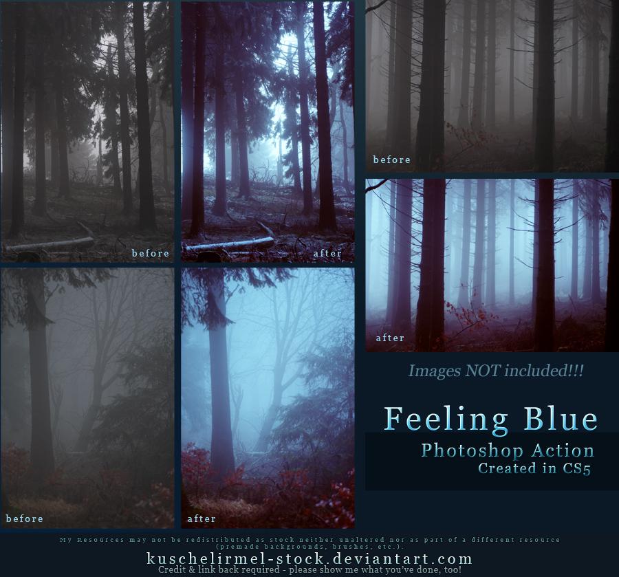 Feeling Blue Action by kuschelirmel-stock