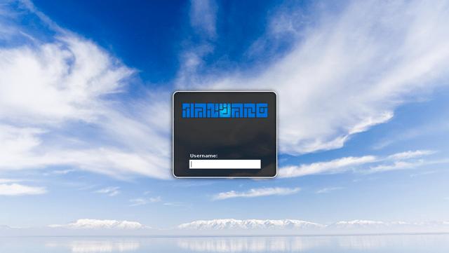 Sky High (SLiM theme for Manjaro)