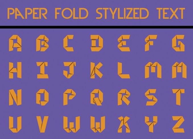 Paper Fold Stylized Text