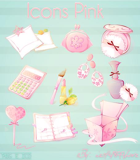 Iconos rosados By ietf4899Love by ietf4899Love