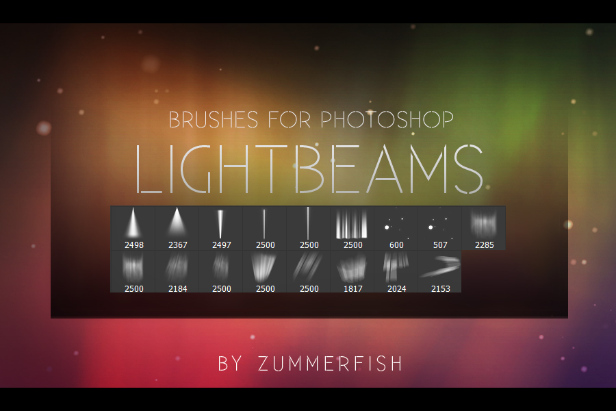 Zummerfish's Lightbeams Brushes by zummerfish
