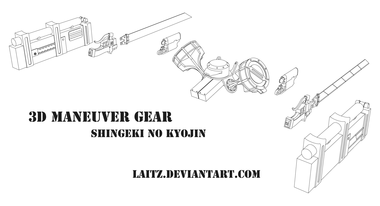 3d Maneuver Gear 3dmg Blueprints By Laitz On Deviantart