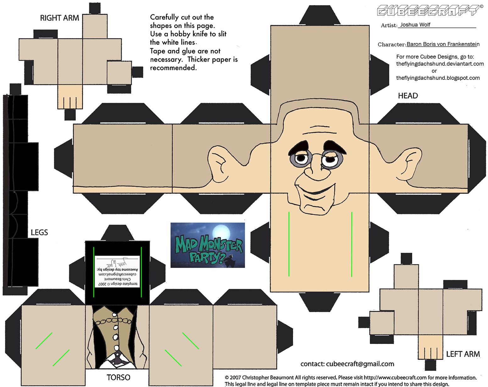Mmp1 Baron Boris Von Frankenstein Cubee By