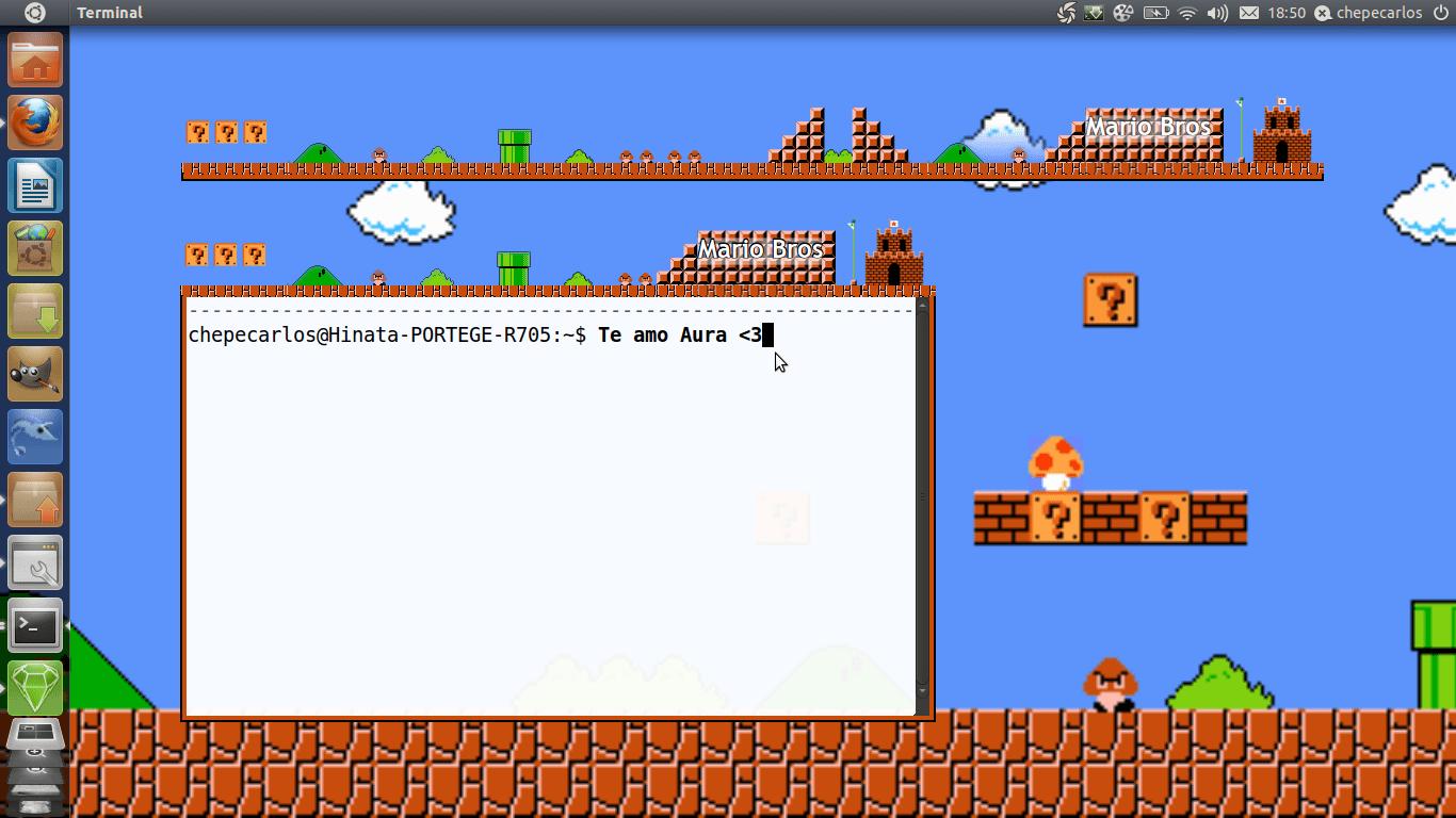 Mario Bros Emerald Compiz Linux