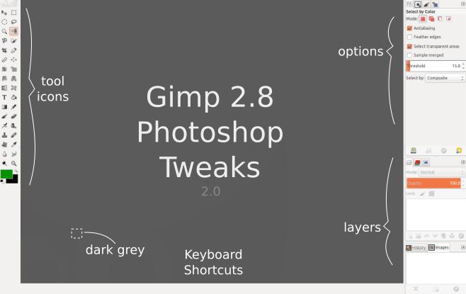 Gimp photoshop tweaks