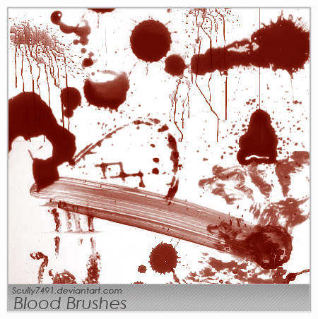 photoshop blood brushes