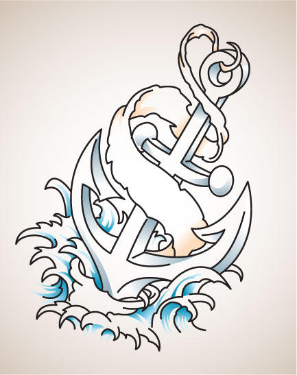 Tattoo style anchor