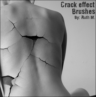 Crack Effect Brushes by funerals0ng