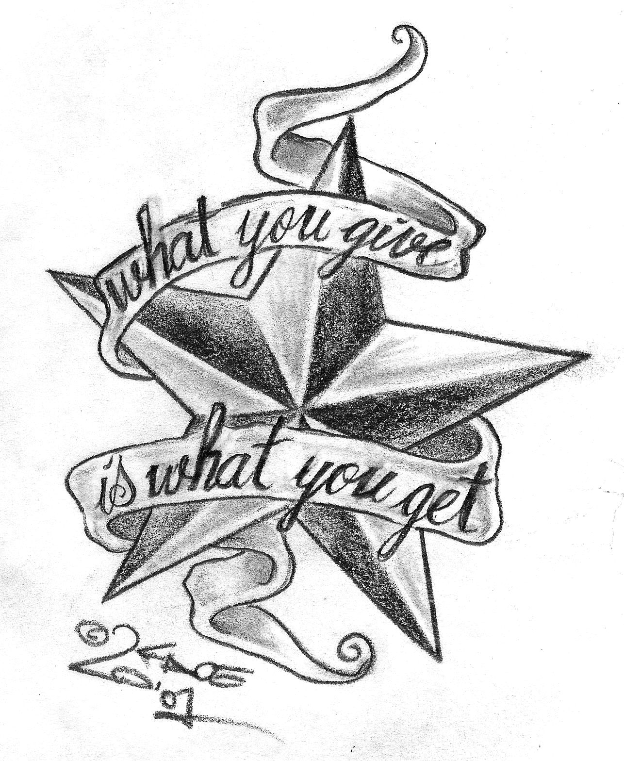 Tattoo Lettering Stencils
