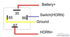 How to install Relay with Horn?  MechanicalElectrical