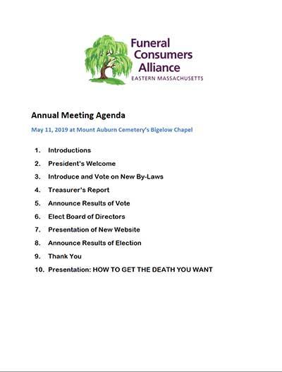 2019 FCAEM Annual Meeting Agenda