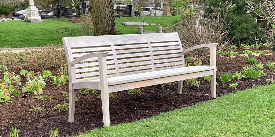 Bench at Mt. Auburn
