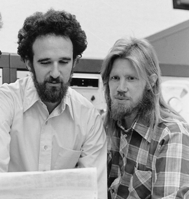 Martin E. Hellman, left, and Whitfield Diffie in 1977. Source: Chuck Painter/Stanford News Service NYTimes