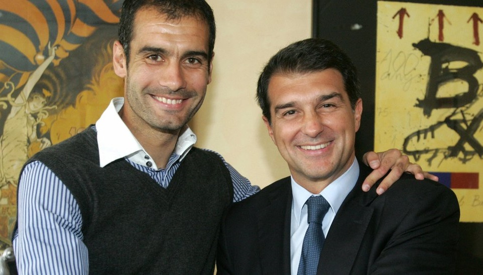 Laporta backs Guardiola for Barca presidency