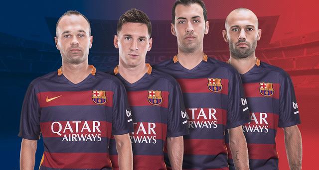 Barça's four captains for 2015/16