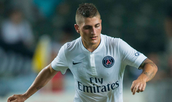 Veratti flattered by Barca link but happy to stay