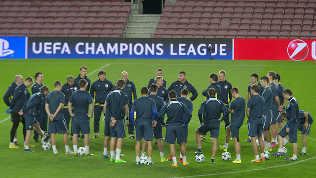 BATE Borisov train at Camp Nou