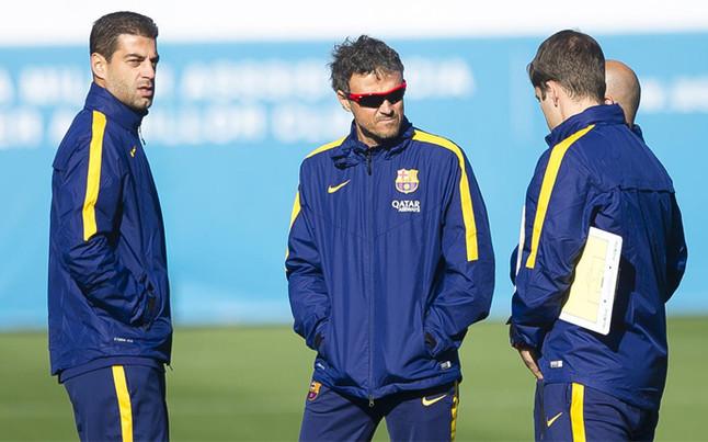 Luis Enrique got his Spain stars back in training