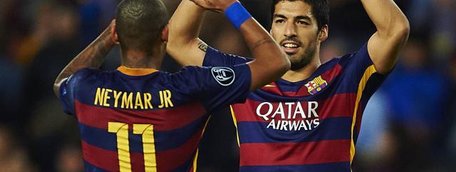 Suarez & Neymar Leads Barcelona for tonight win