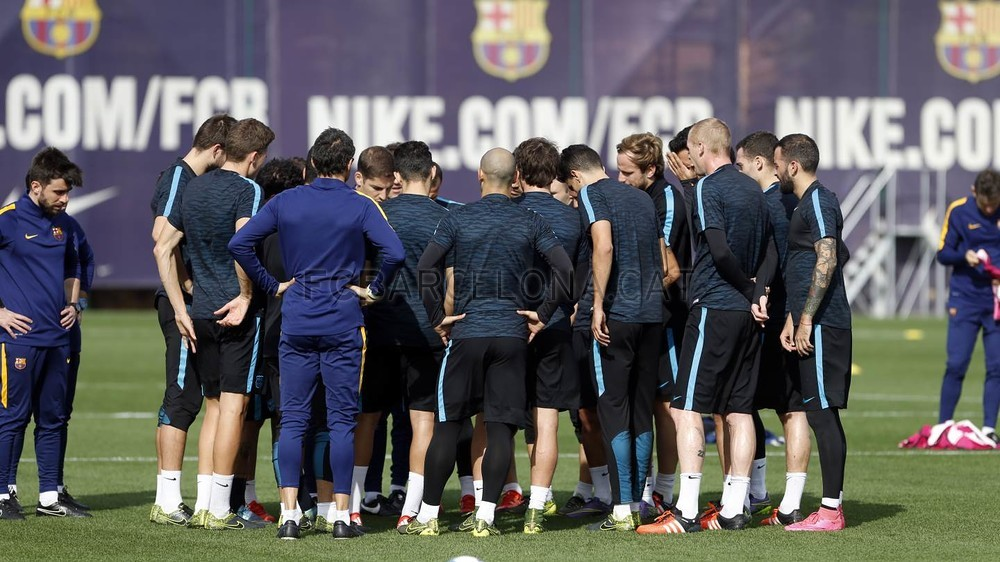 FC Barcelona wrap up training ahead of BATE visit