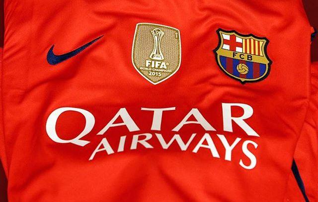 """Barcelona wear """"World Champions"""" badge again"""