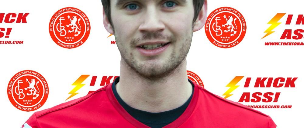 FC Británico de Madrid forward Martin Cannon