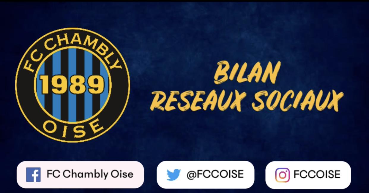 Bilan réseaux sociaux du FC Chambly Oise