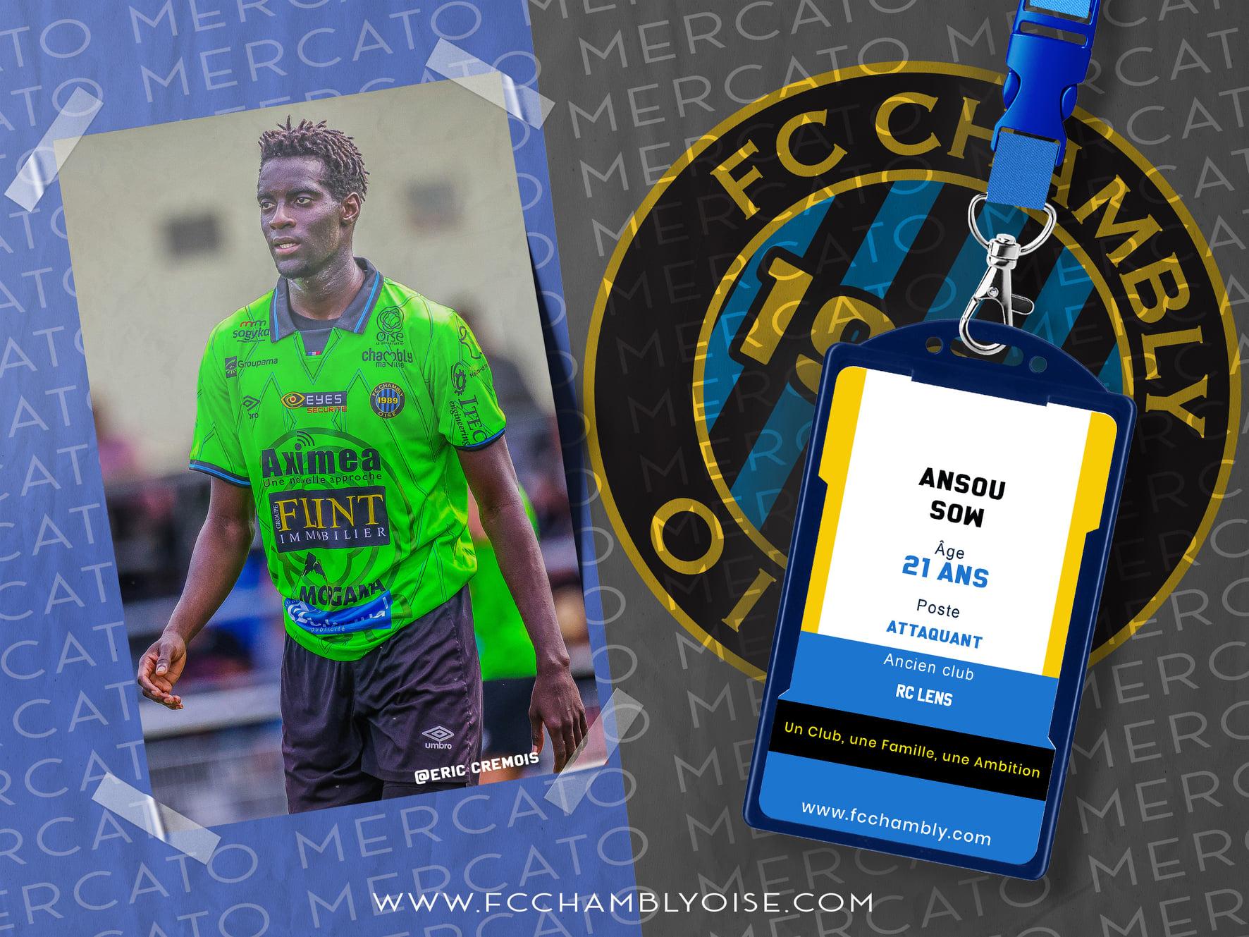 Ansou Sow signe au FCCO !