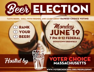 Poster for Ranked Choice Voting Event