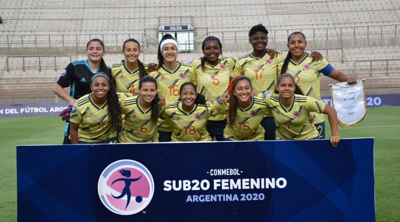 SUDAMERICANO FEMENINO SUB 20 . Colombia clasifica a la final