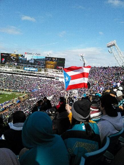 Puerto Ricans at the JAGS game