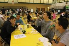 Seniors Chase Blakeman, Clayton Crum, Baylee Gedling, Collin Sharp, and Brennan Kiper.