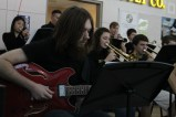 Junior Kingsley Hall plays bass with the jazz band.