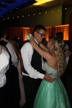 Senior Wyatt Cherry and junior Savannah Thieneman slow dance together. Photo by Alaina King.
