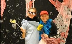 Sophomore Olivia Didat and freshman Sara Brown.