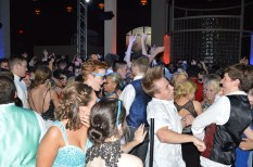 """Students go crazy as the song, """"Darude - Sandstorm"""" plays. Photo by Sarah Strain."""