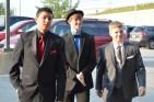 Juniors Matt Stepp, Bishop Hunter and Nick Kruer arrive to prom. Photo by Sarah Strain.